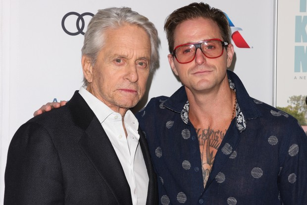 Michael Douglas e Cameron Douglas (Foto: Getty Images)