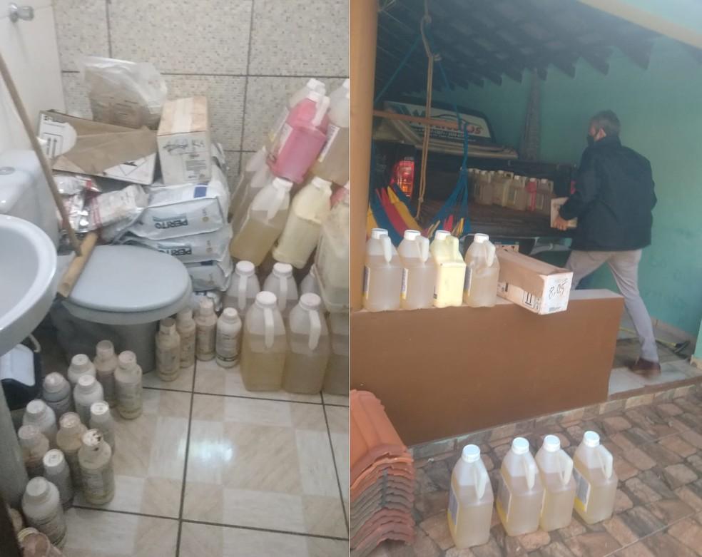 Segundo a polícia, furto de produtos agrícolas gerou prejuízo de cerca de R$ 60 mil em Bernardino de Campos (SP) — Foto: Polícia Civil/Divulgação