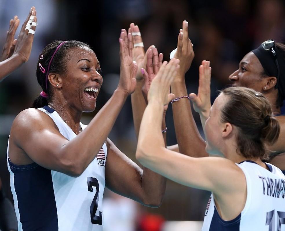 Danielle Scott em ação em Londres, 2012, em sua última participação em Jogos Olímpicos  — Foto: ELSA / Getty Images/AFP