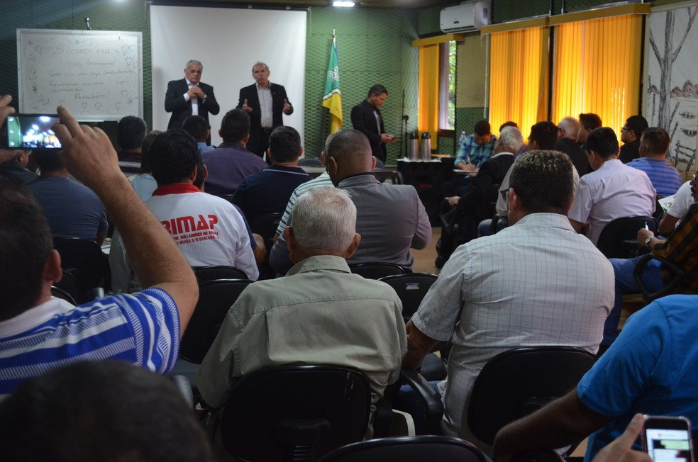 Encontro reuniu órgãos da Segurança e Justiça, além de pecuaristas do Amapá (Foto: Jorge Abreu/G1)