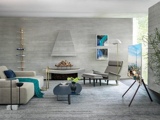 Décor do dia: sala de estar aconchegante em tons de cinza (Foto: Ruy Teixeira)