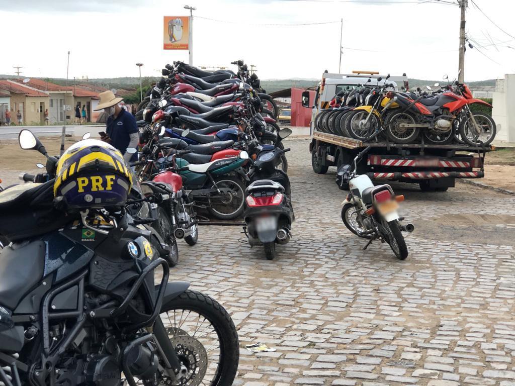 Operação apreende 40 motocicletas irregulares em três municípios da Paraíba