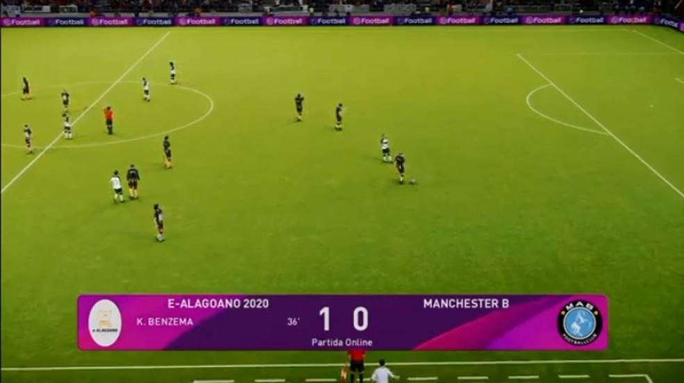 ASA venceu o primeiro jogo e garantiu a vaga na final do e-Alagoano com nova vitória — Foto: Reprodução/FAF TV