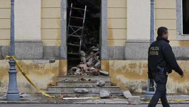 Destroços do Museu Nacional do Rio de Janeiro (Foto: Agência Brasil)