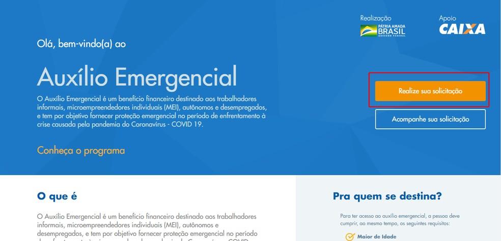 Saiba como se cadastrar para receber o auxílio emergencial pelo PC — Foto: Reprodução/Caixa