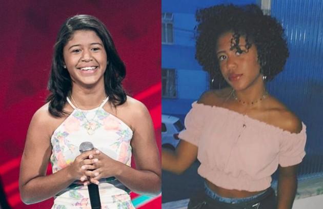 A baiana Julie de Assis subiu ao palco do 'The voice kids' aos 14 anos (Foto: TV Globo e reprodução)