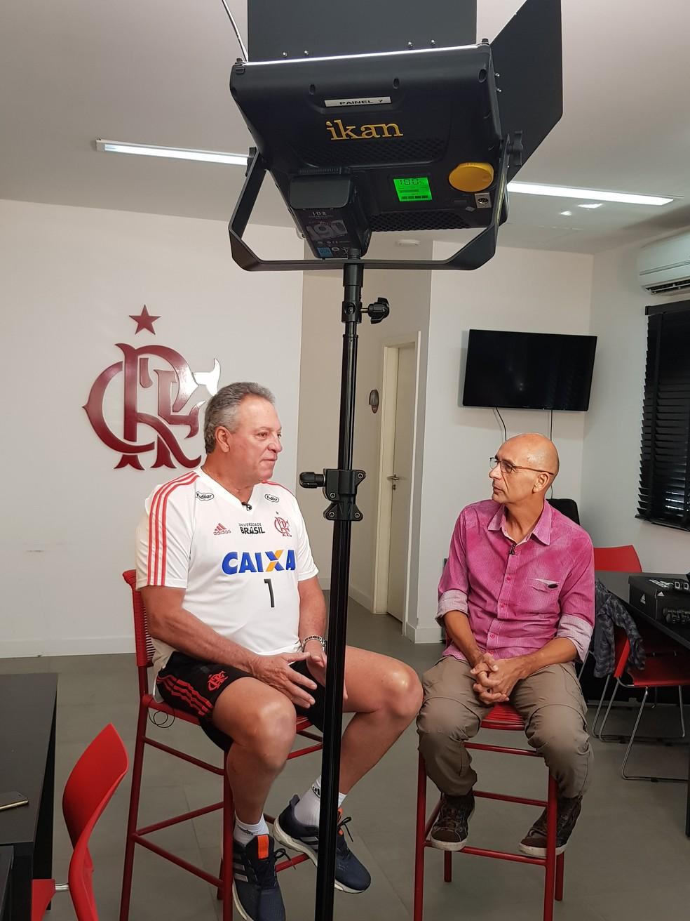 Abel Braga durante entrevista ao Esporte Espetacular — Foto: Fred Huber