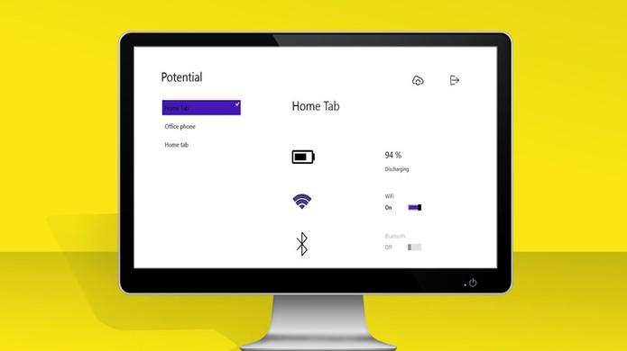 Com o Potential é possível ver o nível da sua bateria na tela do PC (Foto: Divulgação/Potential)