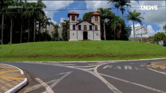 Via Brasil: a igreja de Santa Rita, um dos cartões postais de Uberaba, Minas Gerais