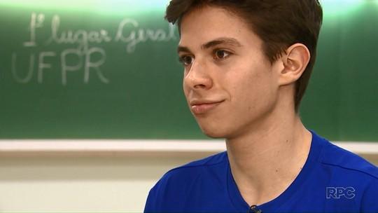 'Fiquei sem chão', conta estudante aprovado em primeiro lugar no vestibular da UFPR