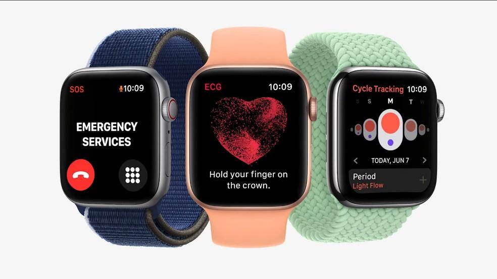 watchOS 8 tem novos aplicativos — Foto: Reprodução/Apple