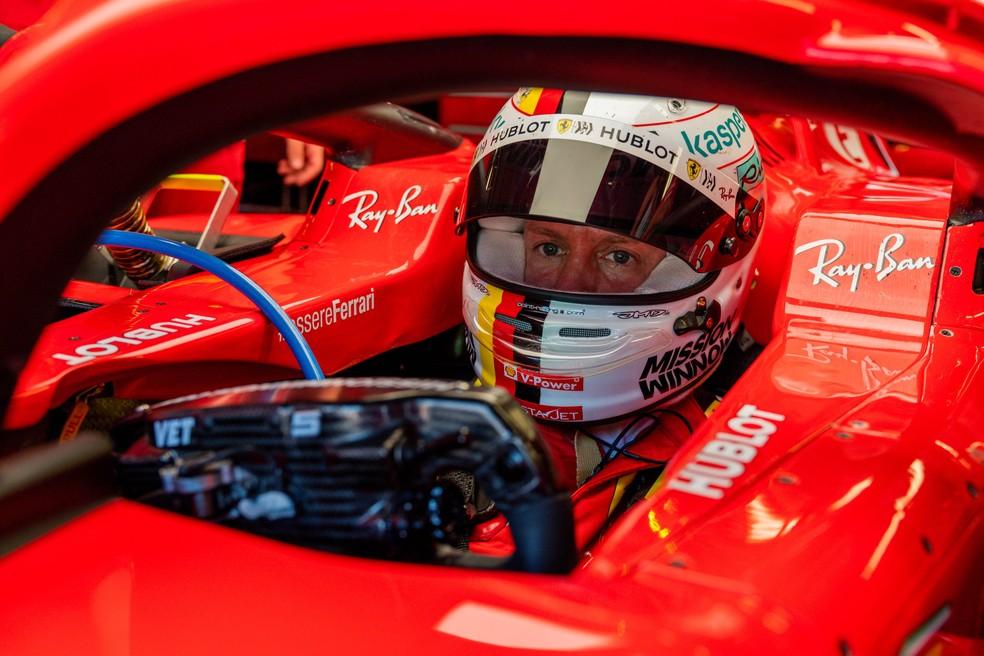 Sebastian Vettel a bordo da Ferrari SF71H em Mugello — Foto: Reprodução Scuderia Ferrari