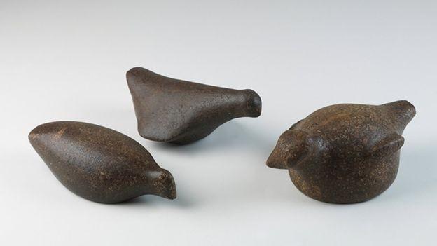 A coleção do museu tinha itens extraídos dos sambaquis, estruturas produzidas até 6 mil anos atrás (Foto: DIVULGAÇÃO/MUSEU NACIONAL)