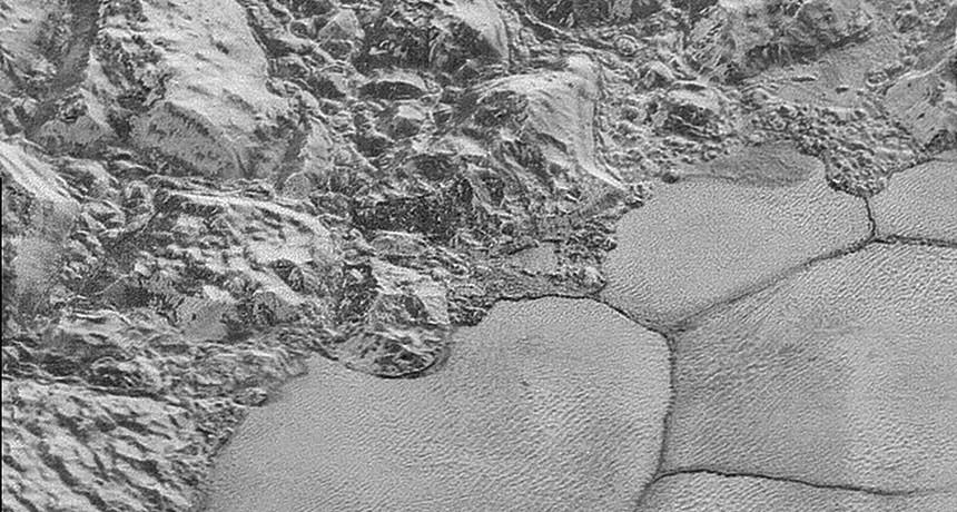 As dunas de Plutão