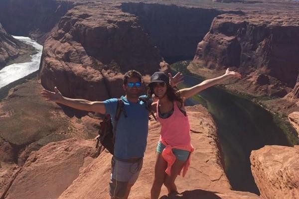 O médico Grant William Robicheaux e sua namorada Cerissa Laura Riley (Foto: Redes Sociais)