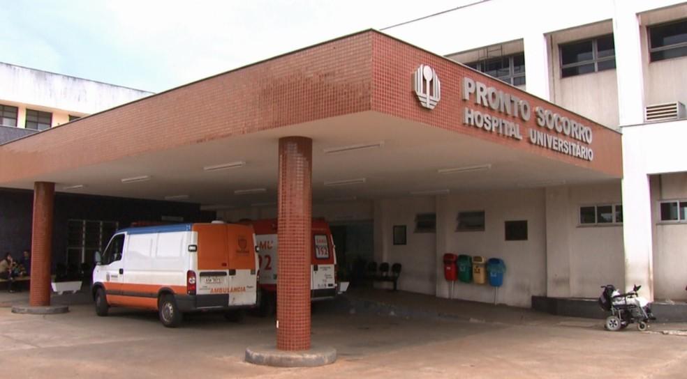 Criança foi levada em estado grave para o Hospital Universitário de Londrina — Foto: Reprodução/RPC