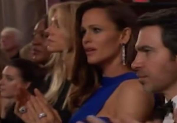 A atriz Jennifer Garner assustada durante o Oscar 2018 (Foto: Reprodução)