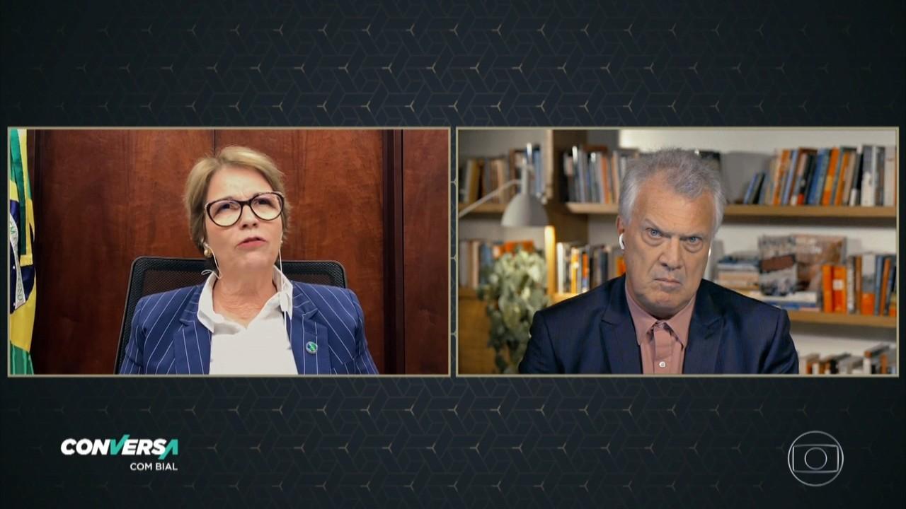 ministra Tereza Cristina nega que vá assumir superpasta da Agricultura e do Meio Ambiente: 'Não estou preparada'