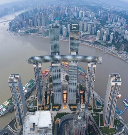 Maior arranha-céu horizontal do mundo impressiona de onde se olhe (Foto: Divulgação)