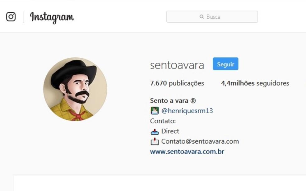 Atualmente, perfil tem como foto uma caricatura de João — Foto: Reprodução/Instagram
