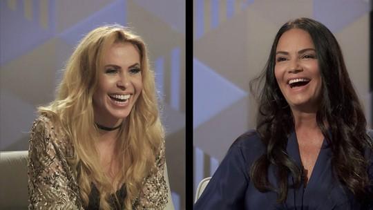 """Joelma e Luiza Brunet falam sobre violência doméstica na estreia do quadro """"Você por aqui?"""