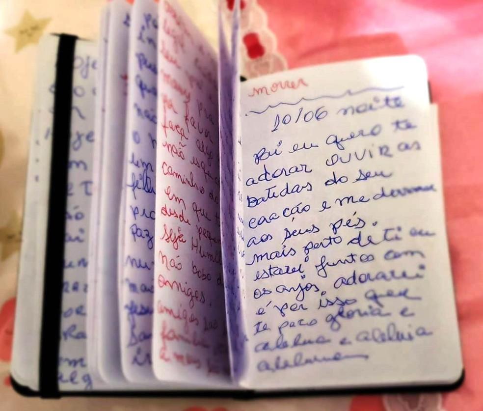 Diário foi escrito durante internação de Maria Célia na UPA do Éden — Foto: Arquivo Pessoal