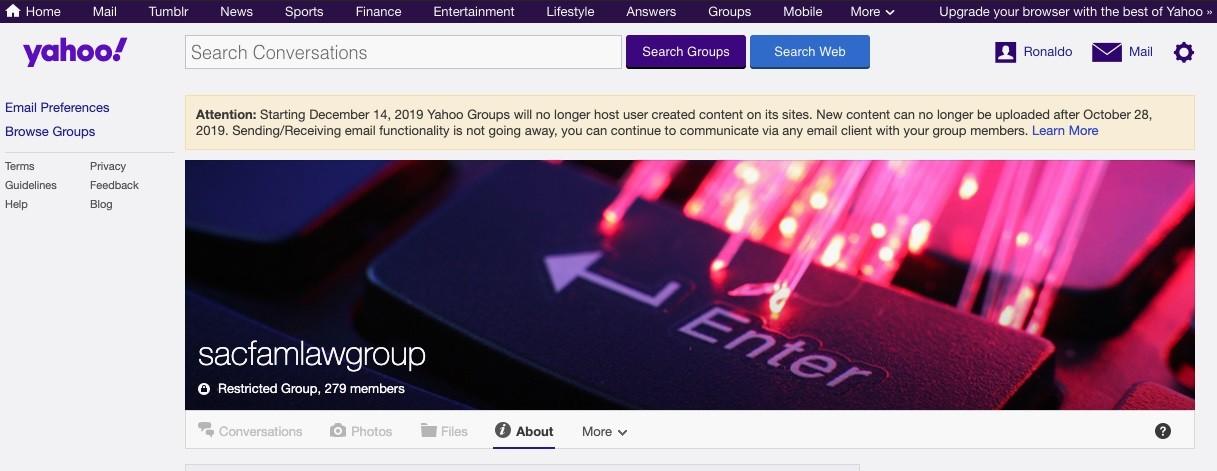 Todo o conteúdo do Yahoo Grupos será apagado até dezembro - Notícias - Plantão Diário