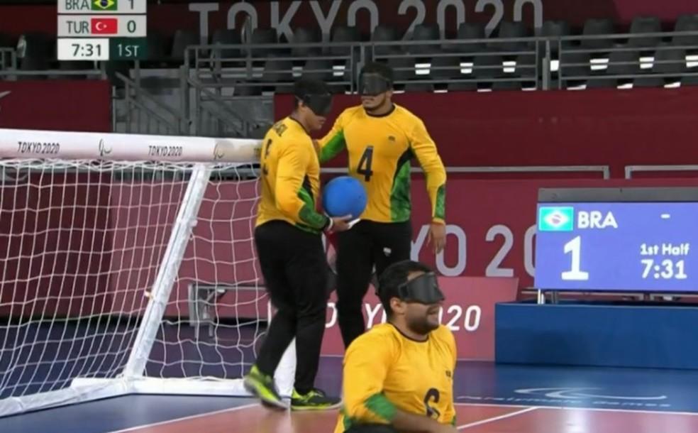 Goalball brasil turquia — Foto: Reprodução