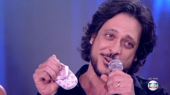 Lucio Mauro Filho revela que será pai novamente no palco do 'PopStar'