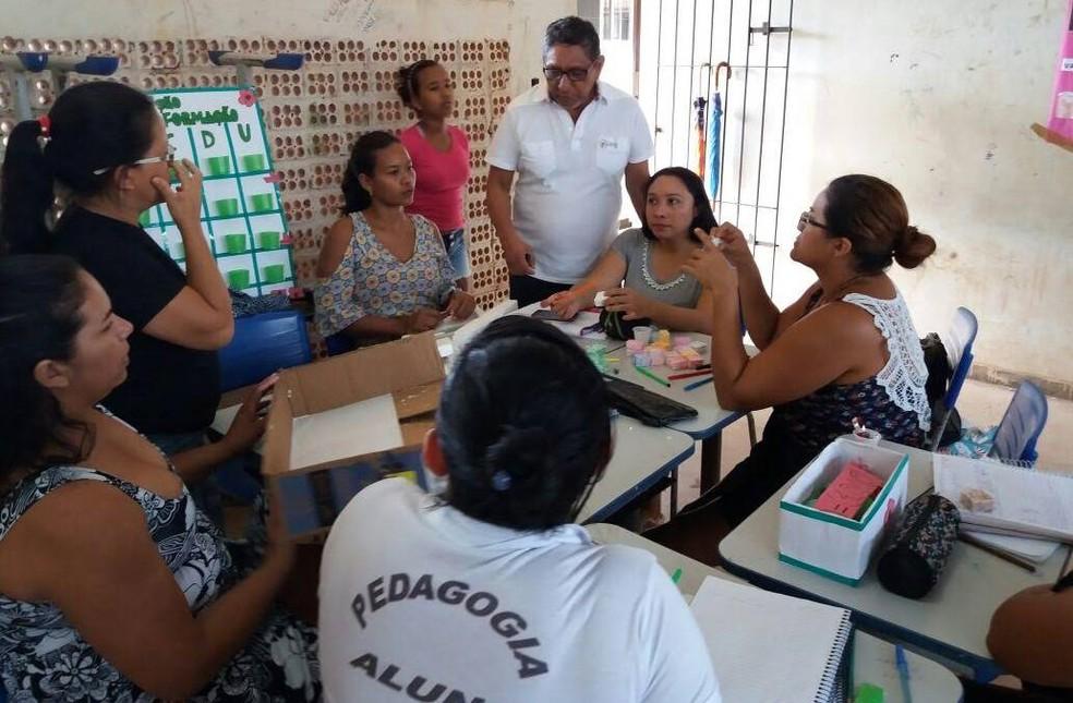 Através do Parfor, professores da educação básica têm aulas presenciais durante as férias escolares com os docentes das instituições. (Foto: Divulgação/ Parfor UFPA)