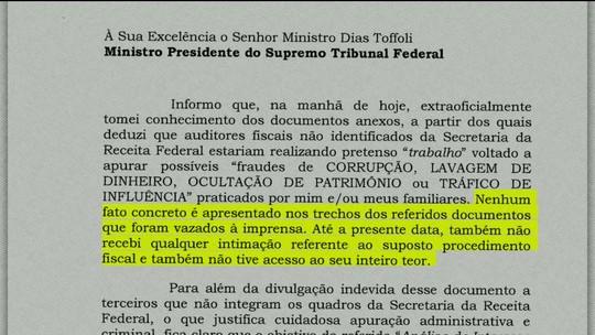 Documento da Receita Federal aponta suposta fraude de Gilmar Mendes; ministro vê 'ilícito' e pede providências a Toffoli