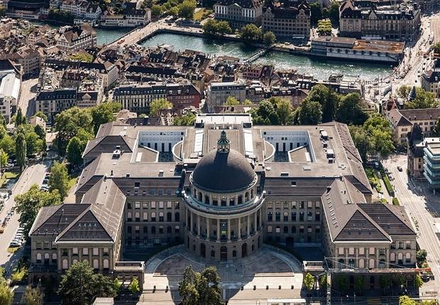 O ETH Zurich (Instituto Federal de Tecnologia de Zurique), considerada a melhor universidade da Suíça (Foto: Reprodução/Facebook)