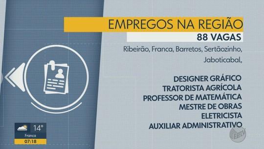 Ribeirão Preto e mais 4 cidades da região têm 88 vagas de emprego abertas