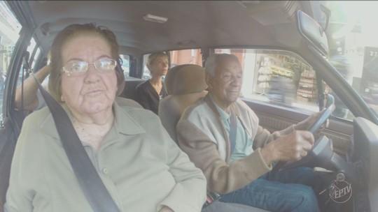 'O segredo é não ter muita pressa' diz motorista de 93 anos de Serra Negra