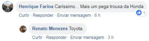 Novo Toyota Yaris: o que nossos leitores estão achando (Foto: Reprodução Facebook)