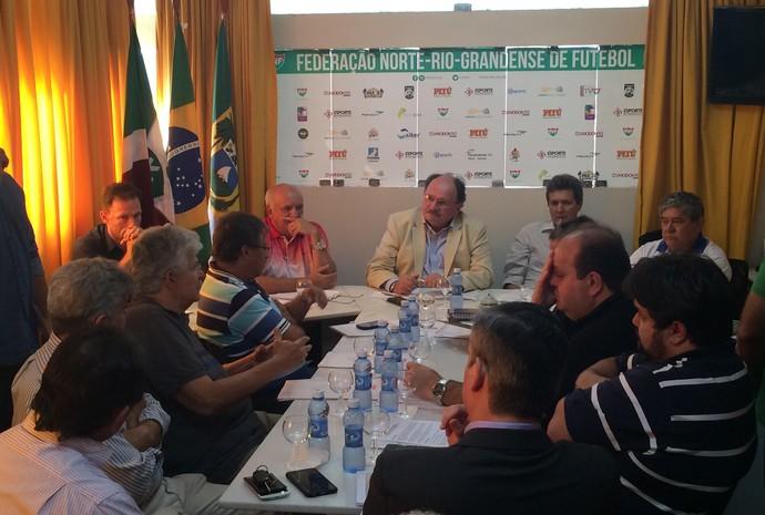 RN - reunião Campeonato Potiguar 2017 (Foto: Augusto Gomes/GloboEsporte.com)