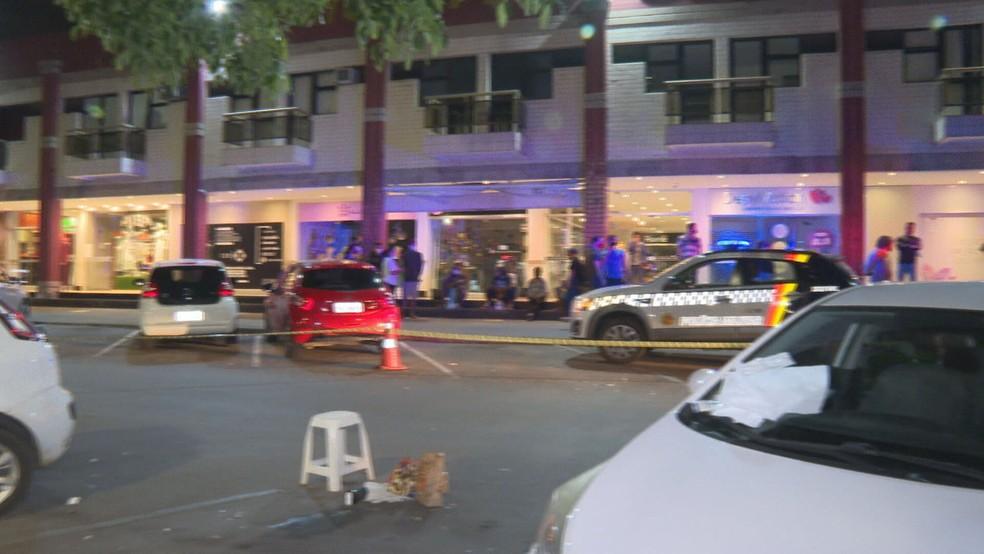 Polícia Civil do DF investiga homicídio no Sudoeste — Foto: TV Globo/Reprodução