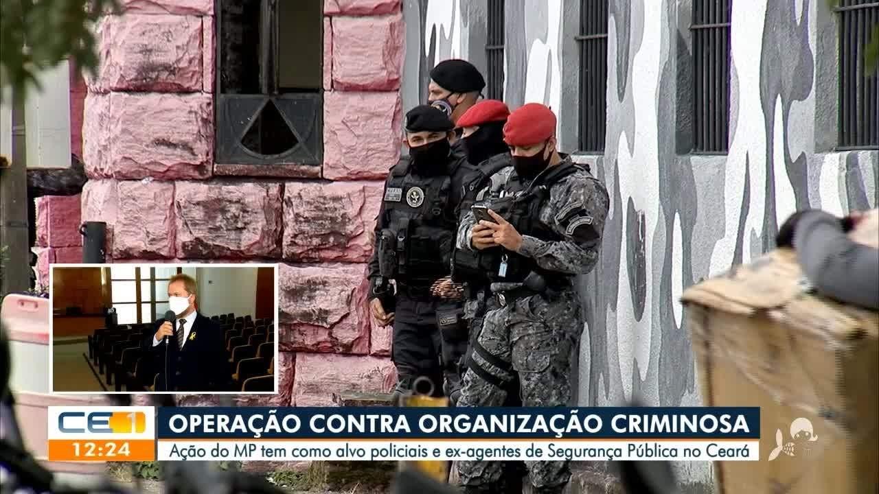 Operação contra organização criminosa tem alvo policiais e ex-agentes de segurança pública
