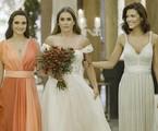 Renzo (Rafael Cardoso) ou Zezinho (João Baldasserini)? Alexia (Deborah Secco) se casará com um dos dois no último capítulo de 'Salve-se quem puder'. Confira outros desfechos a seguir | TV Globo