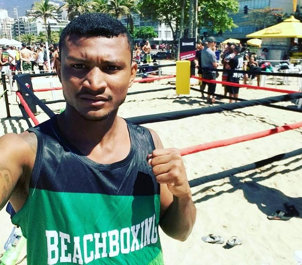 Esta foi a primeira vez que o amapaense lutou na areia (Foto: Juscelino Pantoja/Arquivo Pessoal)