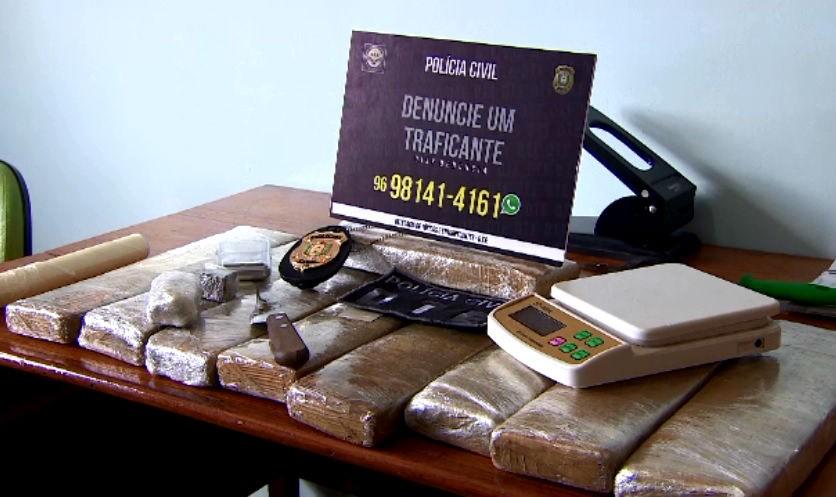 Polícia apreende 9 quilos de maconha com traficante condenado em Macapá