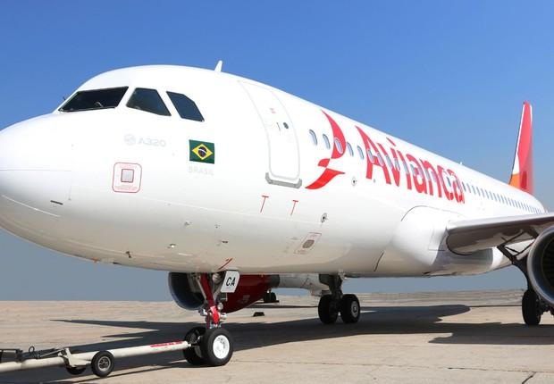 Airbus da companhia aérea Avianca Brasil (Foto: Divulgação/Avianca)