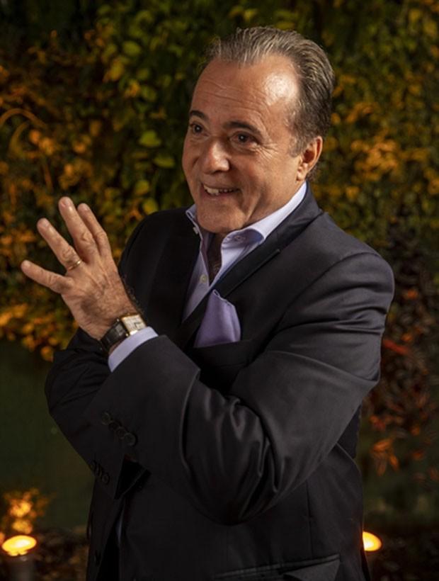 Tony Ramos: verdadeira referência de um lord (Foto: João Miguel / Globo)