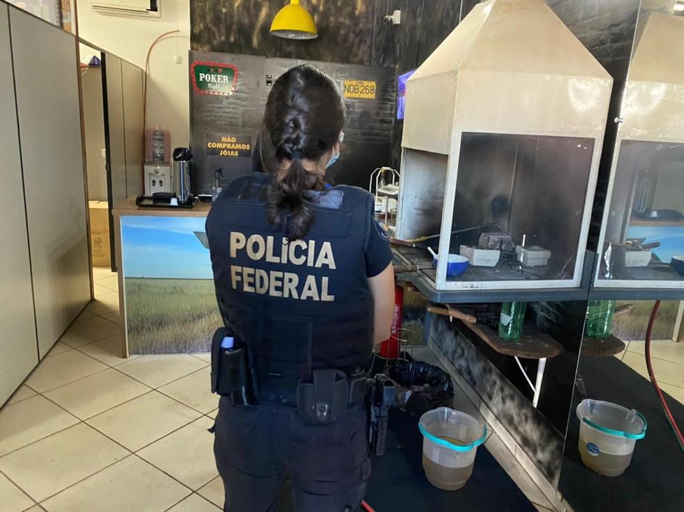 PF faz duas operações contra venda ilegal de ouro em Mato Grosso — Foto: Polícia Federal de Mato Grosso