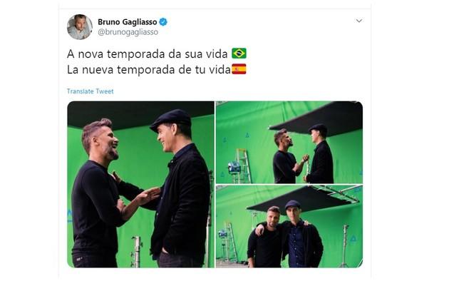 Bruno Gagliasso publicou sobre a quarta temporada da série da Netflix (Foto: Reprodução/Twitter)