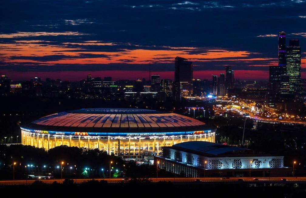 Estádio Lujniki preparado para receber a final da Copa do Mundo (Foto: Divulgação / FIFA)