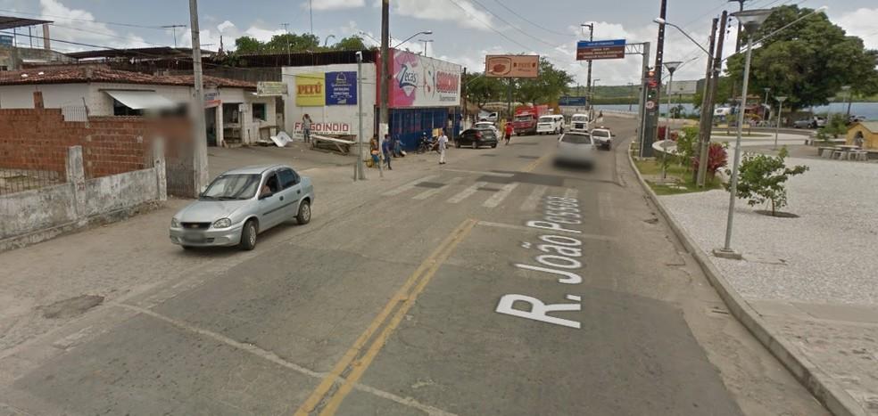 Rodovia PE-35 fica em Itapissuma, no Grande Recife (Foto: Reprodução/Google Street View)