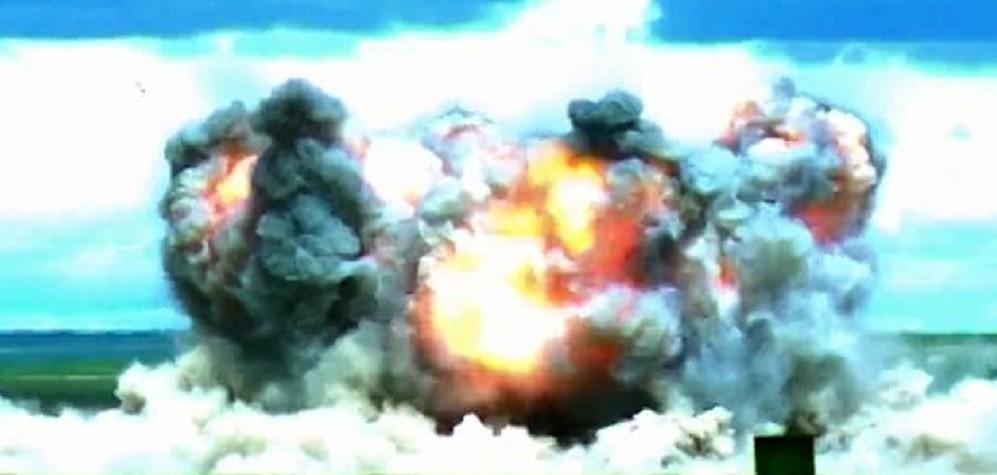 Momento da explosão da bomba é registrado (Foto: Divulgação)