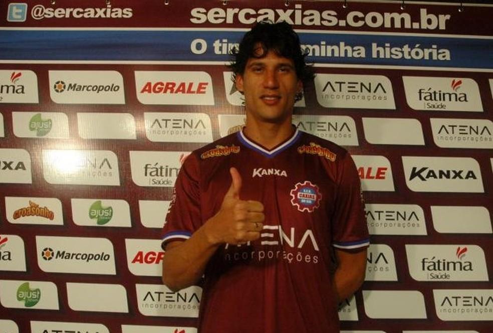 Janderson defendeu o Caxias em 2014 (Foto: Divulgação/Caxias)