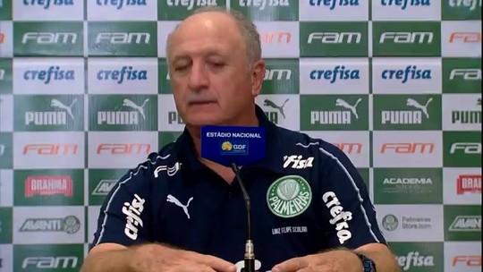 """Felipão elogia Botafogo, valoriza o Palmeiras e rechaça favoritismo: """"Isso é só para enganar bobo"""""""